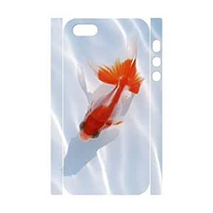 LZHCASE Diy Customized Case Goldfish 3D Case for iPhone 5,5S [Pattern-1]