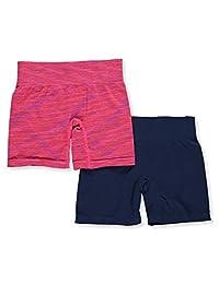C.C Girls' 2-Pack Seamless Bike Shorts
