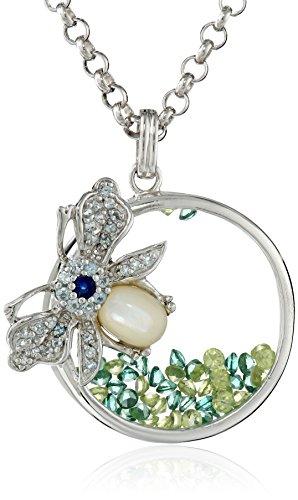 Kenneth Jay Lane Fine Jewelry Sterling Silver, Blue Topaz...