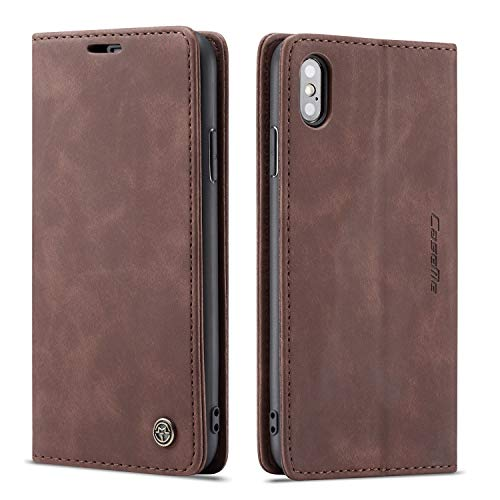 - Cover Case for iPhone Xs MAX Apple,Coffee Holder Flip Shell Vintage Matte Leather Cash Slot 6.5inch Retro 2Card Slot (ID Card,Credit Card) Full Protection Accurate Cutouts Gift Girls Boys