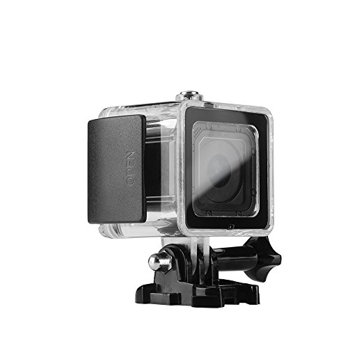 Lightwish 45M (150 Feet 50 Yard) Underwater Diving Waterproof Housing Protective Case Accessory Kit With Bracket For GoPro Hero4 session (Black)