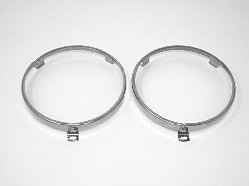 "5 3/4"" Headlight Headlamp Trim Ring Retainer Pair for Datsun 520 521 620"