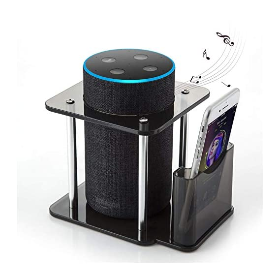 OFORCE #1 Echo Guard - OnFoward Acrylic Speaker Stand for Alexa Amazon Echo Plus and 1st Generation Echo with Remote