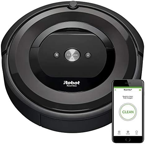 iRobot Roomba E5 5150 Robot Vacuum - Wi-Fi Connected, Works with Alexa, Ideal for Pet Hair, Carpets, Hard, Self-Charging Robotic Vacuum, Black