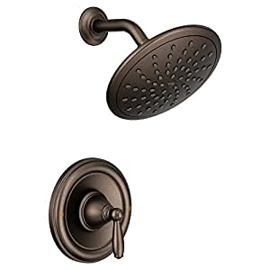 Moen T2252EPORB Brantford Shower Only System with Rainshower Showerhead without Valve, Oil Rubbed Bronze