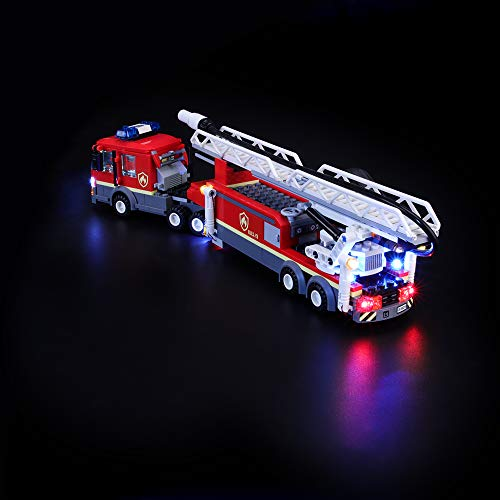 BRIKSMAX Led Lighting Kit for Downtown Fire Brigade - Compatible with Lego 60216 Building Blocks Model- Not Include The Lego Set