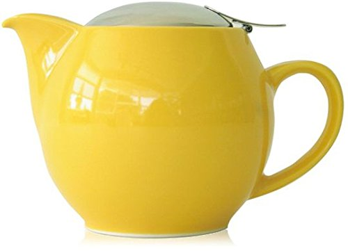 Bee House Ceramic Round Teapot (Yellow Pepper)
