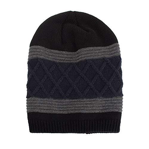 442925d61 WUAI Deals,Women Men Winter Knit Warm Flexfit Hat Stripe Ski Baggy Slouchy  Beanie Fashion Skull Cap (Black)