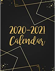 2020-2021 Calendar: 2 Year Jan 2020 - Dec 2021 Daily Weekly Monthly Calendar Planner For To Do List Academic Schedule Agenda Logbook Or Student & Teacher Organizer Journal Notebook, Appointment Business Planners W/ Holidays   Black Gold