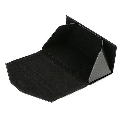 protection à rigide Triangle de lunettes fermoir de lunettes la pour de à pour soleil lunettes de noire magnétique Boîte étui Triangle boîte étui pliable soleil plane avec surface fS7Hq6R