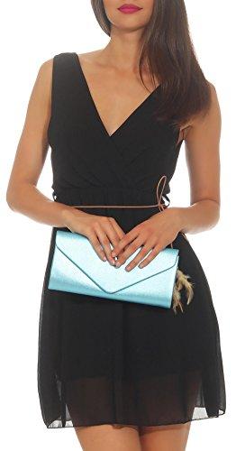 Pochette da Citybag 2 Malito Glitter Light donna T400 da sera Blue rTdxqRwUr