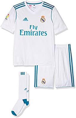 2743de84e Amazon.com : adidas 2017-2018 Real Madrid Home Full Kit (Kids) : Sports &  Outdoors