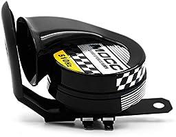 KKmoon 130DB Altavoz Sonido de Bocina de Aire Alarma Advertencia Fuerte Electr/ónico Cuerno de Caracol Ruidoso Moto Auto Coche