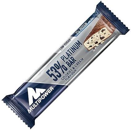 Multipower 53% Platinum Protein Bar 24 x 50g Cookies: Amazon ...