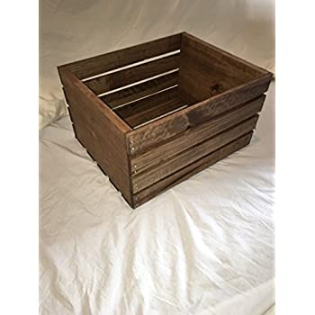 "Amazon.com: Old fashioned Wooden Wine Box 19.5""x13.5""x5.5"" Inside: Brewing And Venting Racks And"