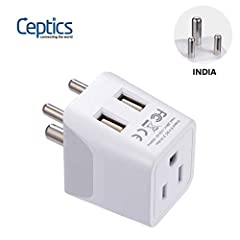 Type D - The Round Pin plug socket standard is used in over 30 countries around the world. The Ceptics Type D best adaptor for offers a reliable and easy connection for devices with a North American plug or polarized (one blade is wider than ...