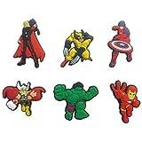 Avengers Shoe Charms 6 Pcs Set #2