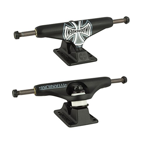 Independent Forged Titanium Truck Co. Black Skateboard Trucks - 159mm Hanger 8.75'' Axle (Set of 2) by Independent