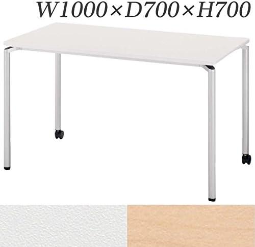 生興 テーブル CR型会議用テーブル W1000×D700×H700 片側キャスター脚 CR-1070FC ナチュラル