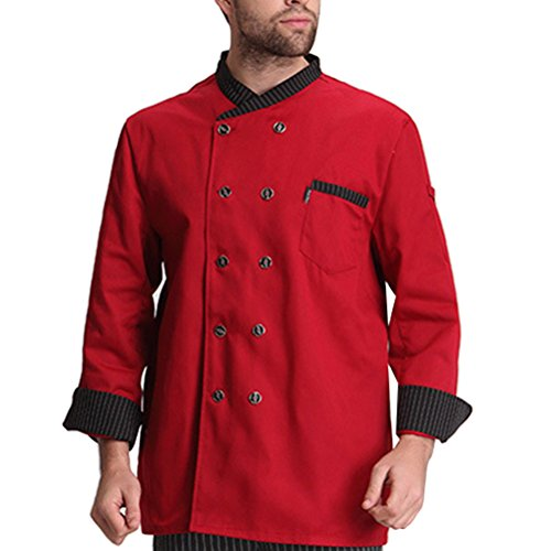 Classic Sleeve Work Colors Red Chef Unisex Clothes Advanced Zhhlaixing 3 Uniform Long wqY87xKFt