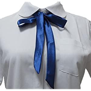 YABINA Ladies Long Pre Bow Tie Solid Color Bowtie for Women