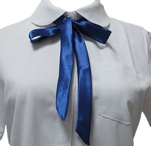 YABINA Ladies Long Pre Bow Tie Solid Color Bowtie for Women