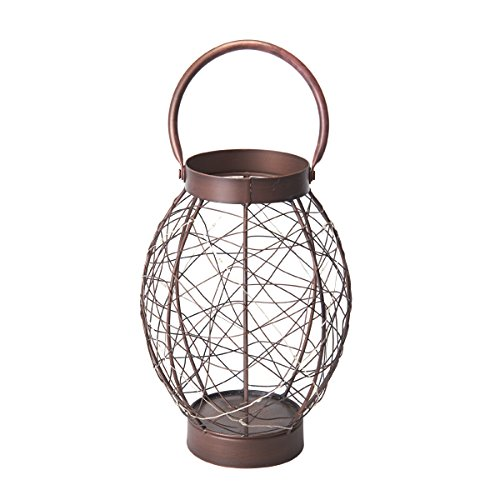 Elements Bronze Oval LED String Lantern, 10-Inch