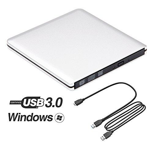 Ultra Slim USB 3.0 External DVD Drive, Portable Aluminum ...