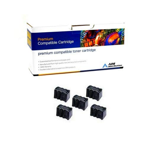 AIM Compatible Replacement for PrintMaster IS820-5 Black Solid Ink Sticks (5/PK-7000 Page Yield) - Compatible to Xerox 016-2040-00 - Generic (00 Compatible Solid Ink Sticks)