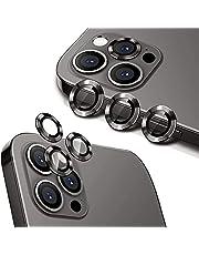 واقي عدسة كاميرا لاصق من الزجاج المقوى HD عالي الدقة وخليط الالومنيوم عالي الجودة من هويلونج لعدسة كاميرا موبايل ايفون 12 برو ماكس (6.7 بوصة) (جرافيت)