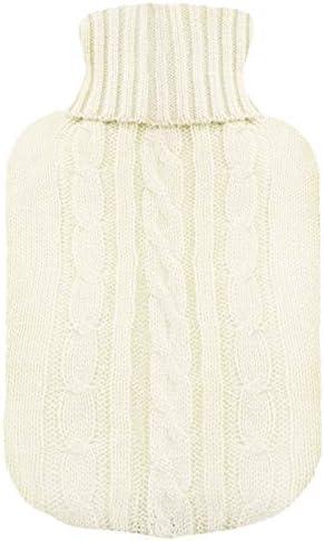 TRIXES Strickbezug für Wärmflausche - Beige - Nur Strickcover - Wärmflasche nicht inbegriffen