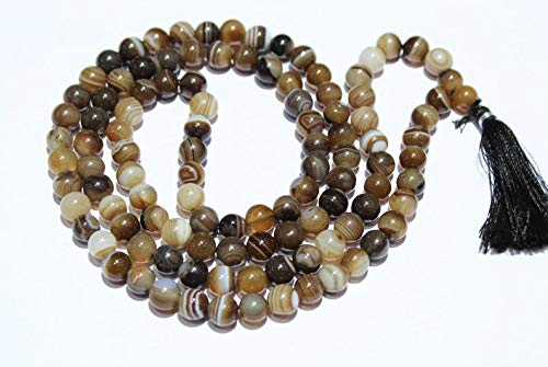 Jewel Beads Gems-Jewellery 5 Strand Banded Agate mala 109 ...