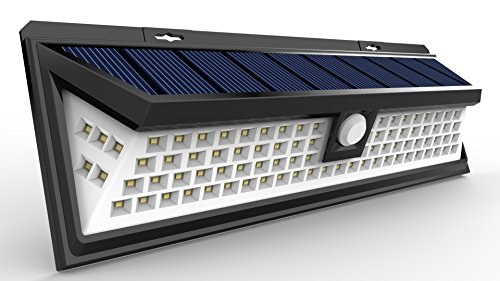 Lemontec Solar Lights, 90 LED Outdoor Motion Sensor Solar Lights Wide Angle Design With 5 LEDs Both Side For Driveway Patio Deck Yard Garden, White Light by Lemontec