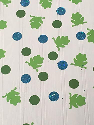 Frog, confetti, toad, bullfrog, croaker, polliwog, forest, animal, animals, birthday, party, cake smash, photo shoot, backdrop, prop