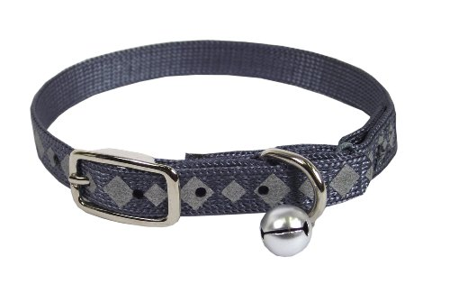 UPC 013227565108, Hamilton Reflective Cat Safety Collar, 3/8-Inch by 12-Inch, Graphite