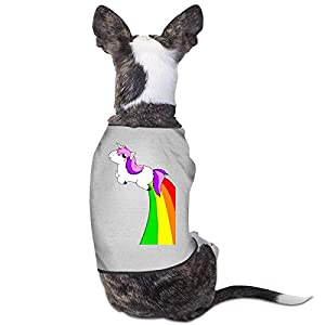 WUGOU Dog Cat Pet Shirt Cute Puppy Apparels Clothes Kitten Vest Soft Thin I'm Magical Unicorn Rainbow 3 Sizes