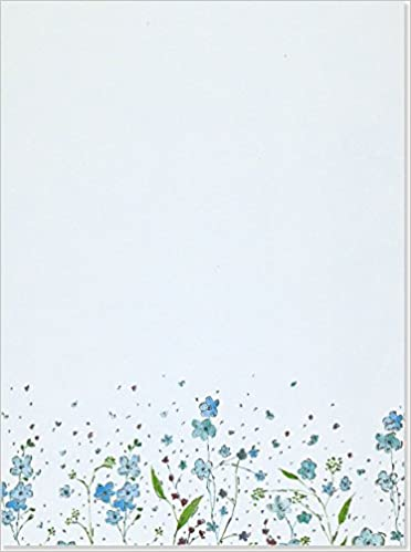blue flowers letter perfect stationery peter pauper staff 9781593592585 amazoncom books