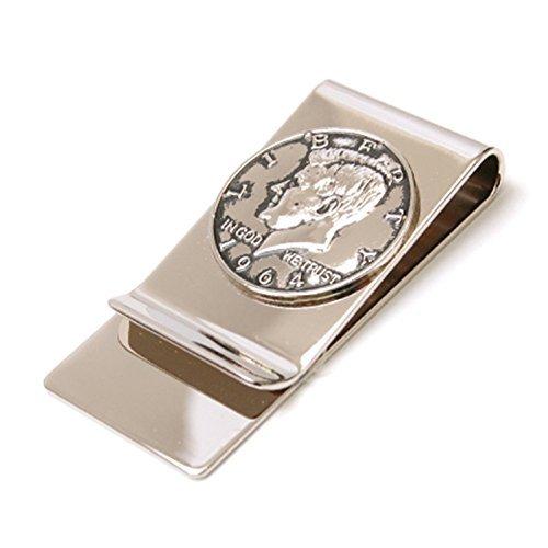 Men's Mirror Half Dollar President Clip surface AMANOGAWA Coin Kennedy Silver Money BCw4ndq