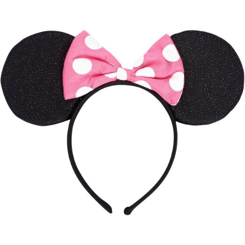 Minnie Mouse Deluxe Mouse Ears Headband-1 (Minnie Mouse Ears Halloween Costume)