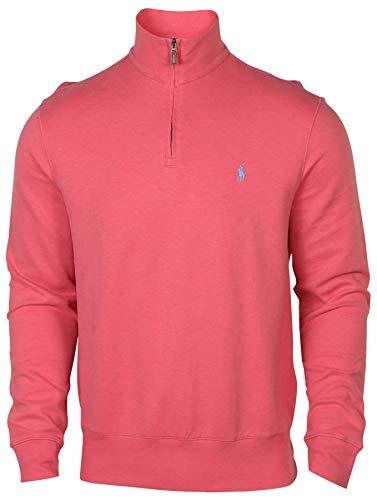 Polo Ralph Lauren Men's Fleece 1/2 Zip Mock Sweater-Red-Small