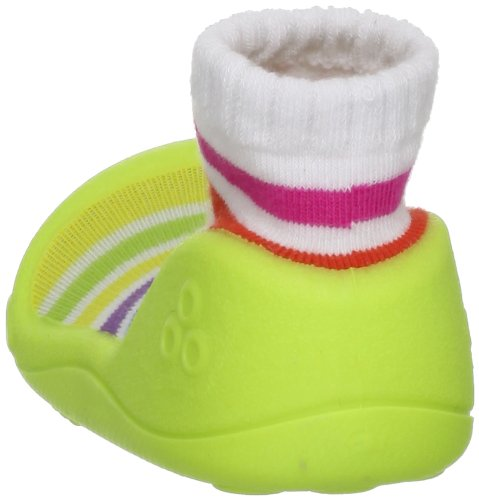 Medium,Rainbow Green First Walking Shoes with Socks for Baby Boys Girls