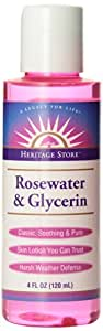 Heritage Store Body Oil, Rosewater and Glycerin, 4 Ounce