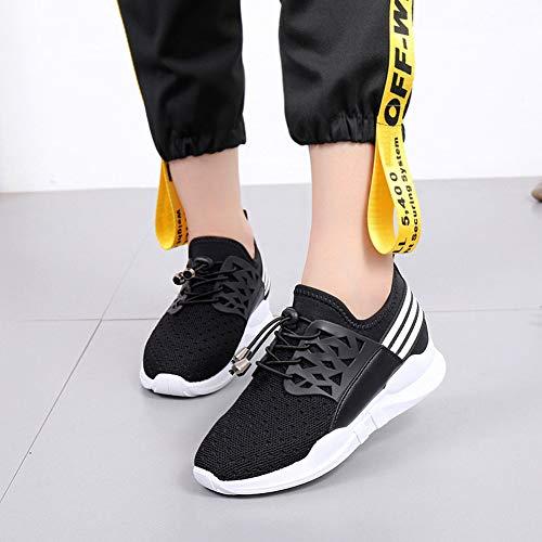 Donna Sneakers Passeggio Da Casual Stringate Scarpe Dreneco Nero OgxdqIwIn