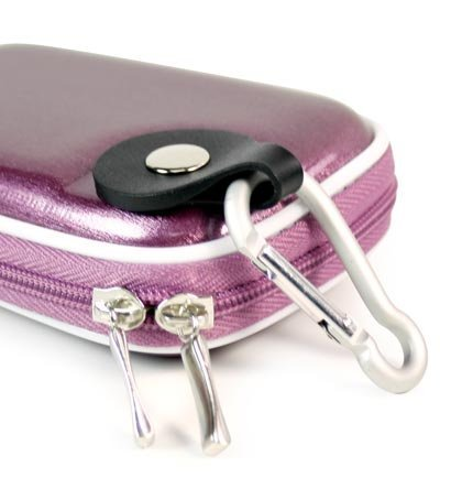 """- Metallic Purple Color JJAK1 High Quality Mini Hard Shell Carrying Case for CANON POWERSHOT ELPH 520 HS DIGITAL CAMERA(10.1 MEGAPIXEL_12X OPTICAL ZOOM 3"""" C SCREEN SIZE LOW LIGHT) (+ 1pc Name TAG) -- Best Seller on Amazon! (10.1 Purple Camera Mp)"""