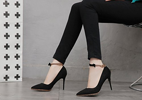 Leisure 5Cm MDRW Buckle Shallow Grind 35 Shoes High Black 9 Shoes Single Heels Lady Comfortable Spring Women'S Elegant Sexy Work 8gAwgqt