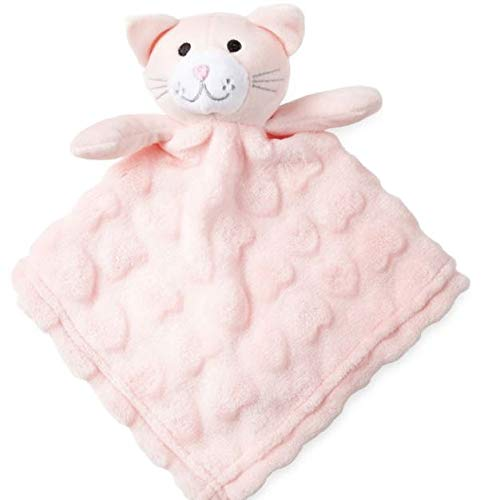 Security Blanket Baby Plush Toy Snuggle Buddy (Pink Cat)