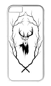 Apple Iphone 6 Case,WENJORS Cool DEER REVISITED Hard Case Protective Shell Cell Phone Cover For Apple Iphone 6 (4.7 Inch) - PC White