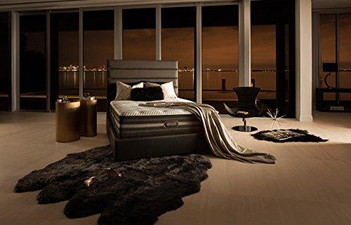 Twin XL Simmons Beautyrest Black Desiree Plush Mattress Set with Regular Foundation