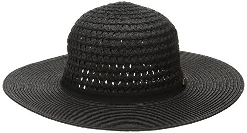 Boho-Chic Vacation & Fall Looks - Standard & Plus Size Styless - Rip Curl Juniors Hari Short Brim Boho Hat, Black/Black/Black, One Size