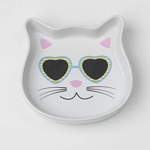 PetRageous 15030 4 oz Stud Kitty Saucer, 4.5